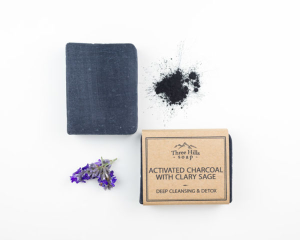 Activated charcoal soap with clary sage