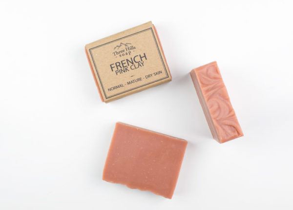 labelled and naked pink soap bars