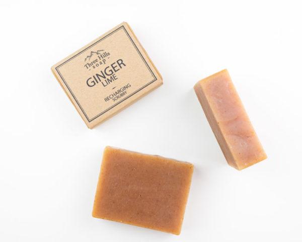 ginger lime natural soap