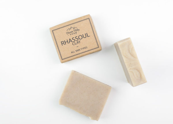 labelled and naked grey soap bars