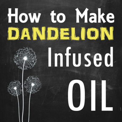 DIY how to make dandelion infused oil