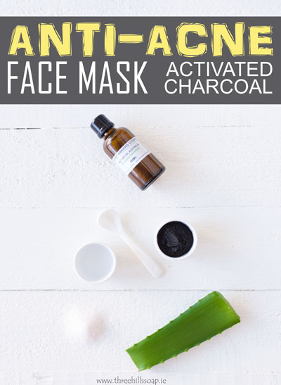 Anti-acne face mask from activated charcoal