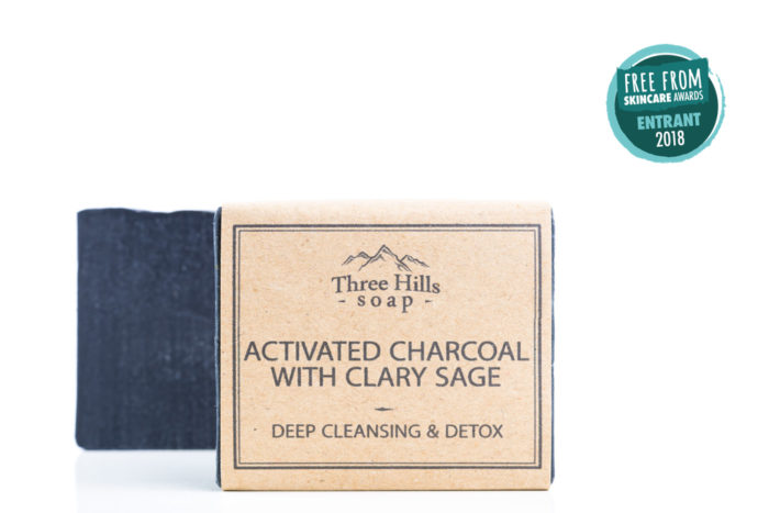 Two activated charcoal soaps