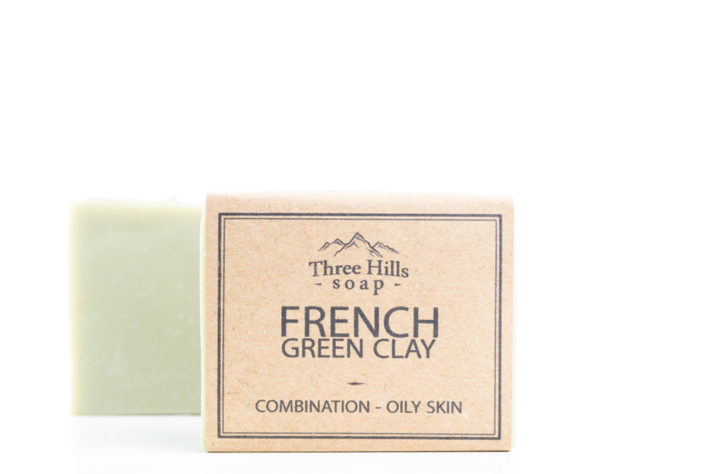 Two french green clay soaps