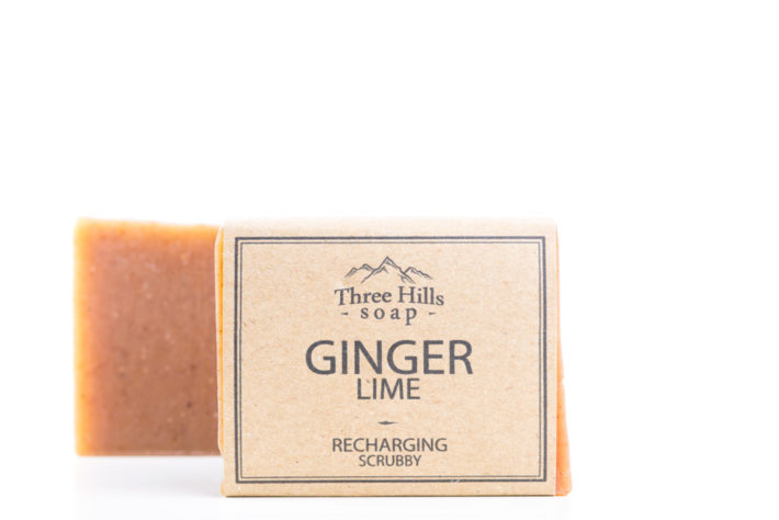 Two ginger lime soaps