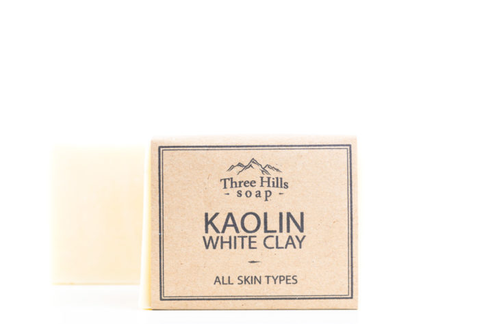Two kaolin white clay soaps