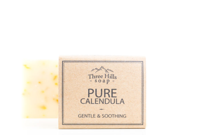 Two pure calendula soaps