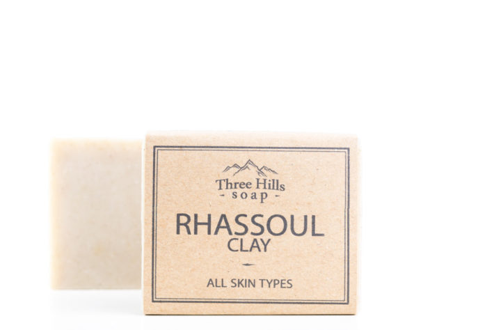 Two rhassoul clay soaps