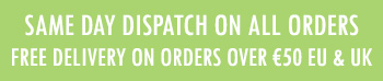 free delivery on orders over 50 and same day dispatch banner