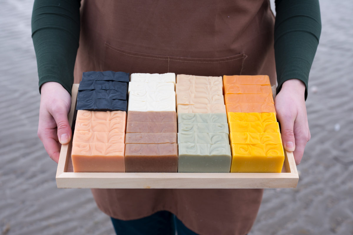 Holding natural soaps