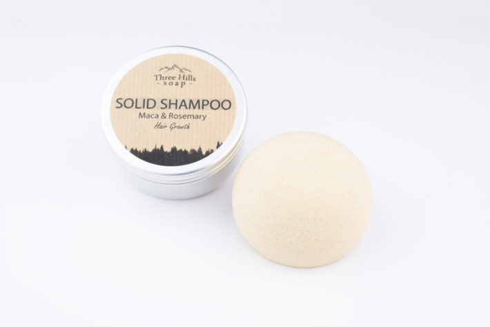 Solid shampoo for hair growth