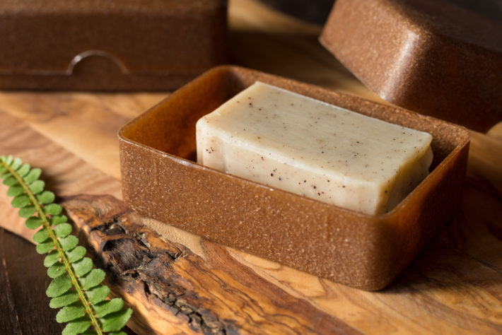 Plastic free travel soap case